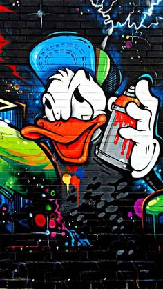 graffiti donald Wallpaper by - - Free on ZEDGE™ Graffiti Wallpaper Iphone, Duck Wallpaper, Scary Wallpaper, Deadpool Wallpaper, Cartoon Wallpaper Hd, Pop Art Wallpaper, Hipster Wallpaper, Cartoon Wallpaper Iphone, Marvel Wallpaper
