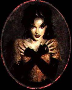 Vampiress, long gloves