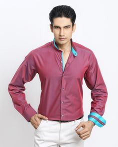 fae74c447 GLOSSY RED-BLUE SHIRT Jaihind Retail