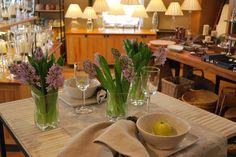 Blue Hyacinth in Simon Pearce Woodbury Petite Vase