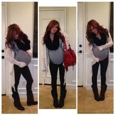 Cute pregnancy fashion with baby #7