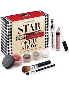 bareMinerals Star of the Show Collection for Eyes, Face & Lips - Makeup Beauty Care, Beauty Makeup, Face Makeup, Makeup Set For Beginners, Cosmetic Tattoo, Blush Brush, Bare Escentuals, Bareminerals, Mascara