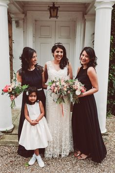 Black Bridesmaid Dresses | English/Indian Fusion Wedding | Northbrook Park | Lemonade Pictures | http://www.rockmywedding.co.uk/riya-rich/