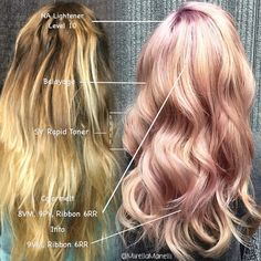 784 Likes, 15 Comments - Mirella Manelli Peach Hair, Pink Hair, My Hairstyle, Pretty Hairstyles, Blond Rose, Blonde Rose Gold Hair, Blonde Hair, Kenra Color, Hair Color And Cut