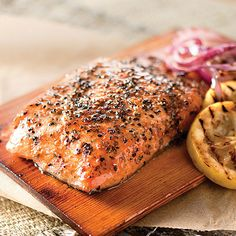 Gentle cedar smoke elevates the salmon's richness in this delectable entree.  It comes pre-marinated and on the cedar plank, ready to bake or grill.  With delicious flavors -either Lemon Dill or Maple and Smoked Pepper - this dish is as easy as it is delicious. Four 9 1/2 oz. servings.