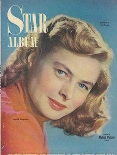 "Ingrid Bergman on the cover of ""Star Album"" magazine, USA,  #5, 1949."