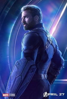 Captain America Avengers: Infinity War Steve Rogers Chris Evans Character Original Marvel Comic Movie – Poster | Canvas Wall Art Print