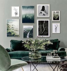 Home Decor Living Room La dcoration murale passe l'heure d't chez Lilly ! - PLANETE DECO a homes world.Home Decor Living Room La dcoration murale passe l'heure d't chez Lilly ! - PLANETE DECO a homes world Living Room Green, Home Living Room, Living Room Decor, Apartment Living, Living Room Artwork, Feature Wall Living Room, Green Rooms, Living Room Pictures, Living Area