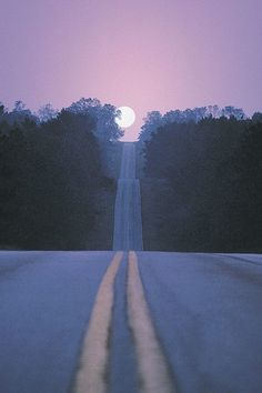 The road to wanderlust is also a way to the moon /// #travel