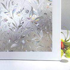 CottonColors Premium No-Glue 3D Static Decorative Privacy Window Films,3Ft X 6.5Ft.(90 x 200Cm)