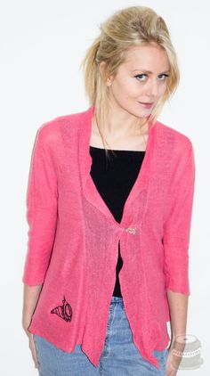 Shell Design/ Coral Shores/Coral Linen Jacket / by Bellafatima