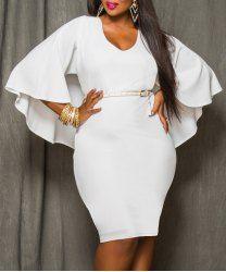 Latest Fat Women Dresses, Plus Size Clothing Women Fashion Peplum ...