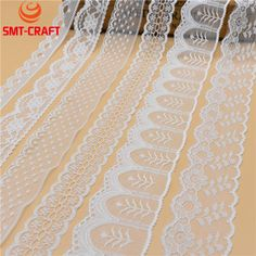 2017 NEW 10 Yards Beautiful White Lace Ribbon Tape french african lace fabric Lace For Sewing Embroidered Clothing Accessories  Price: 1.14 USD