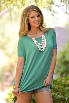 PIKO It Doesn't Get Any Better Tops - Sage from Closet Candy Boutique