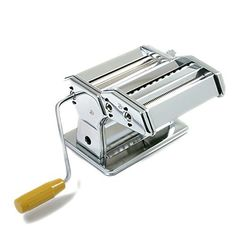 Norpro pasta machine. Clamp securely holds machine to table or countertop. Instruction booklet included. Cuts .06'/1.5mm pasta sheets vermicelli-spaghetti like pasta or .25'/6mm fettuccine...