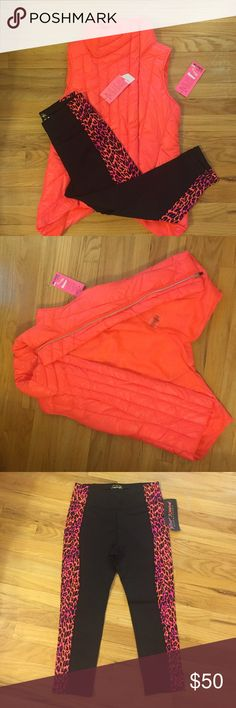 Betsey Johnson Performance outfit Set of Betsey Johnson Performance gear. Workout vest and crop pants. New with tags! Betsey Johnson Other