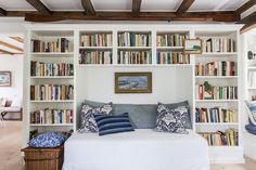 Love this reading nook and the bright feel of this space. Plus, tons of library photos!