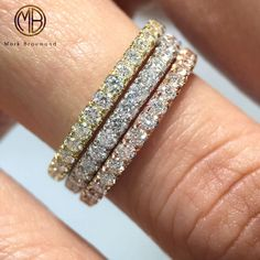 What is better than 1 diamond eternity band? 3 diamond eternity bands of course!