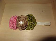 Triple rose headband