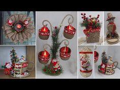 8 Jute craft Christmas decorations ideas | Home decorating ideas - YouTube Christmas On A Budget, Christmas Decorations For The Home, Tree Decorations, Christmas Holidays, Christmas Crafts, Christmas Bulbs, Holiday Decor, Jute Crafts, Diy Crafts