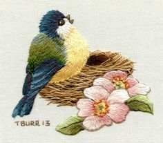 bird 2...this is an adorable bird and beautiful needlework
