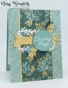 Sending Hugs, Garden Of Eden, Paper Crafts, Diy Crafts, Some Cards, Fall Cards, Christmas Cards, Card Maker, Flower Cards
