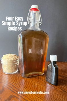 Simple syrup is the easiest cost-saving way to boost your drinks at home. From coffees to cocktails, simple syrup can add a kick to your cup. Cocktail Drinks, Cocktail Recipes, Cocktails, Chef Recipes, Canning Recipes, Cost Saving, Simple Syrup, Whiskey Bottle, Food To Make