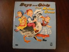 ''Boys and Girls from Mother GOOSE'' Illustrated by Marguerite K Scott, Whitman 1955 | eBay