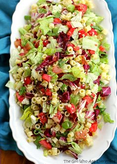 Portillos Chopped Salad - one of my favorite salads ever! Add chicken for a complete meal. the-girl-who-ate-everything.com