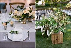 Love the use of branches and the table arrangements
