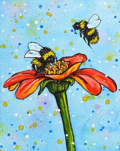 Bumble Bee Original Painting