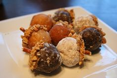 Donut hole acorns...good idea for fall parties at school
