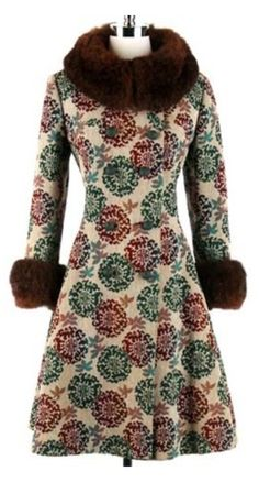 50bc1218fe3 wool tapestry princess fur trim coat jacketWow this a beautiful jacket for  a woman.