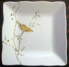 Decorative Dishes - Sweet Yellow Bird Branch Mini Plate Tile, $9.99 (http://www.decorativedishes.net/sweet-yellow-bird-branch-mini-plate-tile/)