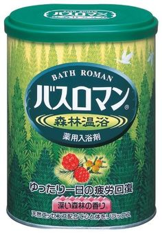 """Bath Roman Natural SkinCare """"Forest"""" Japanese Bath Salts - 680g by BATHROMAN. $27.90. Helps ease shoulder ache, back ache, cold and physical fatigue.. Minus Ion veil wraps the whole body to keep it warm long after bathing.. Sodium sulfate increases blood circulation, raises the skin and body temperature to keep you warmer longer.. Lightly fragranced with calming deep forest aroma.. Made in and imported from Japan. Includes English ingredients and usage instructio..."""