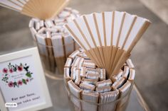 Wedding fans, to keep your guests cool!