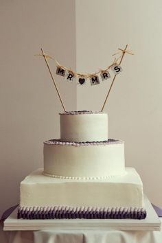 My Cake! Photo by Beautiful Mess Photography, LLC. Cake by McArthur's Bakery