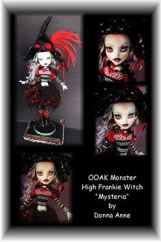 Frankie Witch Fall 2012 Custom Monster High Doll OOAK Repaint Makeover Doll    www.fantasydollsbyd.com  Ebay: Fantasy-dolls-by-donna-anne  Etsy: Fantasydolls