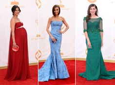 Celebrity Moms and Baby Bumps on the Emmy Awards 2013 Red Carpet