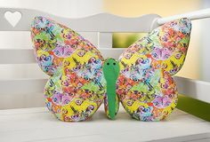 free pattern - kostenloses Schnittmuster Schmetterlingskissen
