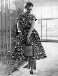 1955 printed summer dress