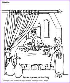 Coloring: Esther Speaks to the King