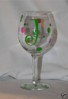DIY Personalized Monogram Wine Glass Kit for 12 Glasses by MUTShop, $13.99
