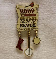 For DISNEY COLLECTORS, Hoop Dee Doo Musical Revue Fort Wilderness dangling pin. Nice find on eBay. #disneycollectibles #disney #hoopdeedoo