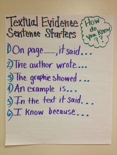 Common Core is all about evidence! Standard One for all grades is all about showing the evidence! This is a great Anchor Chart for Textual Evidence Sentence Starters- I would modify the language required for upper elementary and middle school students. Evidence Anchor Chart, Text Evidence, Citing Evidence, Teaching Writing, Student Teaching, Essay Writing, Argumentative Writing, Teaching Themes, Teaching Character