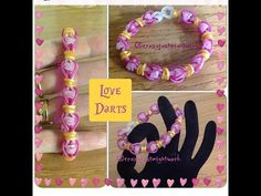 "New ""Love Darts"" Ranbow Loom Bracelet/How To Tutorial - YouTube"