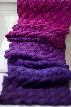 Ravelry: Project Gallery for Lady Eleanor Entrelac Stole pattern by Kathleen Power Johnson