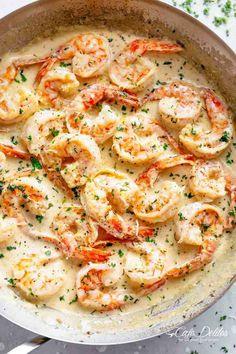 shrimp recipes for dinner easy * shrimp recipes . shrimp recipes for dinner . shrimp recipes for dinner easy . shrimp recipes for dinner healthy Creamy Garlic Shrimp Recipe, Cooked Shrimp Recipes, Shrimp Recipes For Dinner, Easy Dinner Recipes, Easy Meals, Garlic Parmesan Shrimp, Garlic Shrimp Pasta, Frozen Shrimp Recipes, Shrimp Scampi Pasta