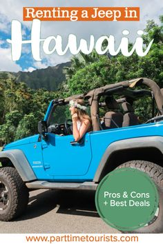 Renting a jeep in Hawaii. pros and cons to renting a jeep in hawaii. This article includes Hawaii jeep tours, Hawaii jeep pictures, Hawaii jeep rentals, and Hawaii jeep wrangler tips and tricks! Oahu Hawaii, Hawaii Travel, Hawaii Beach, Mexico Travel, Spain Travel, Island Park Idaho, Hawaii Activities, Outdoor Activities, Hawaii Rentals