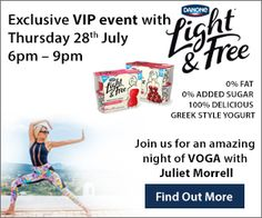 Danone Light & Free want to help you get your Voga on at a fabulous event this summer! The event takes place in The Radisson Hotel, St. Helen's, Stillorgan on Thursday 28th July from 6pm-9pm. But what is Voga? It was developed in the UK by Juliet Murrell, a former film industry art director, who
